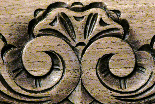 Wood carving on one of my chairs