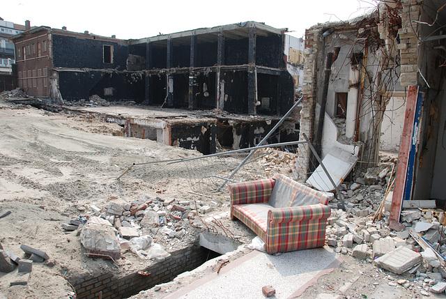 Demolition in Scheveningen harbour