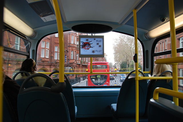 As if sitting on a bus isn't exciting enough, televisions have been installed in the bus