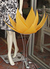 lotus lampshade - wire and cloth