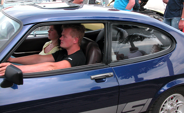 Oldtimer Day Ruinerwold: Ford Capri driver and girl friend