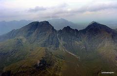 The Cuillins, Skye - aerial