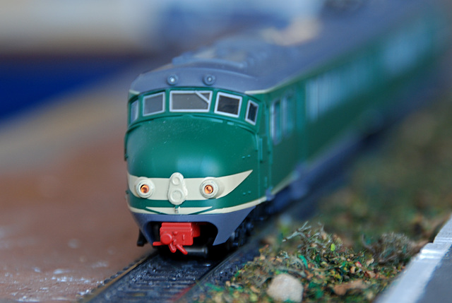 Celebration of the centenary of Haarlem Railway Station: model train mat'54