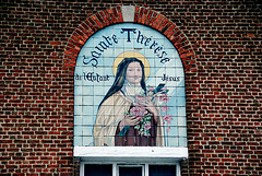 Portrait of Saint Theresa in Waterloo (Belgium)