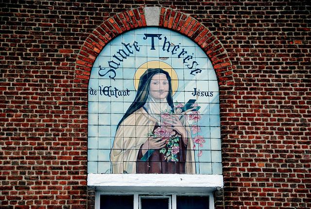 Portrait of Saint Theresa in Waterloo (Belgium)