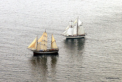 Tall Ships off Skye -aerial