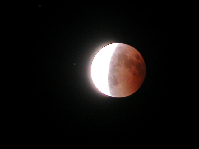 The beginning of the end of the lunar eclipse