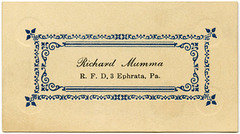 Richard Mumma, R.F.D. 3, Ephrata, Pa.