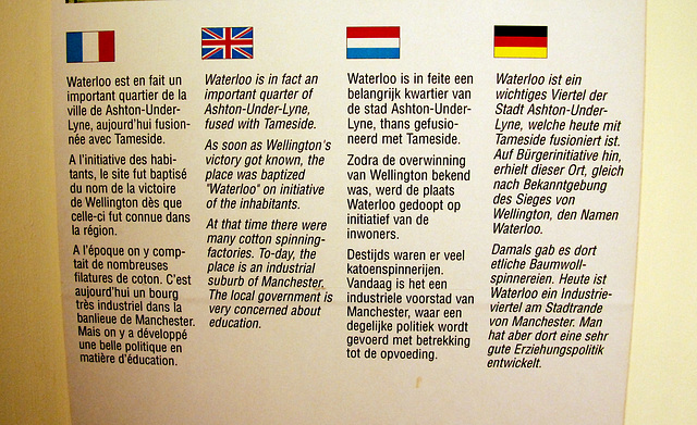 Several towns in the world named themselves after Waterloo: The local government is very concerned about education