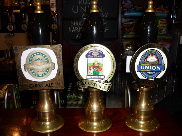 Beer pumps, Cumberland Arms, Tynemouth