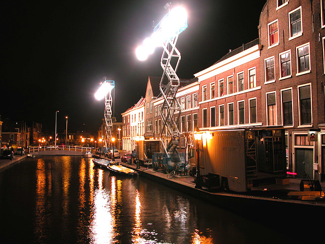 New street lighting in Leiden
