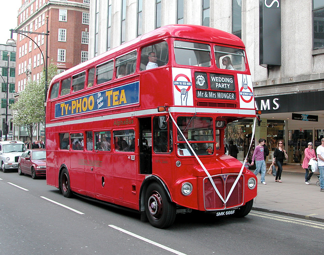 Routemaster 2666 on marriage duty
