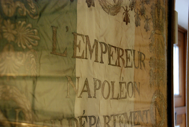 One of Napoleon's flags in the Wellington museum in Waterloo