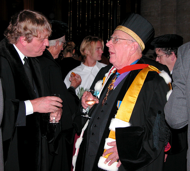 A professor with many honourary doctorates