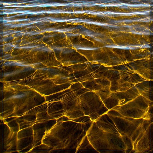 Sunshine Reflecting Off Silt in Shallow Water on Upper Klamath Lake