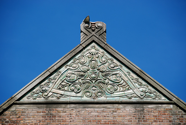 Some shots from around the new office: Roof ornament on the former Anatomy Lab