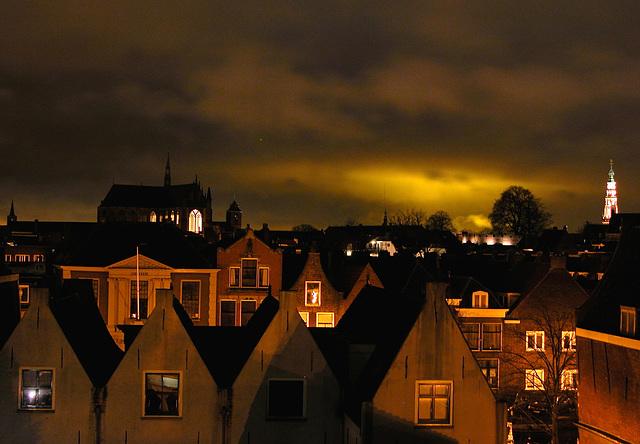Strange light over Leiden tonight