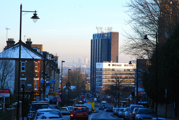 Highgate Hill looking toward Archway