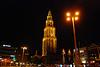 Groningen: Martinitoren (Martini Tower) at night