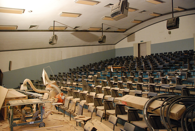 Some shots from around the new office: Former lecture hall
