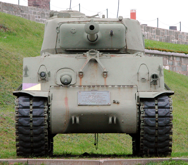 US tank in the Citadel in Quebec City, Canada
