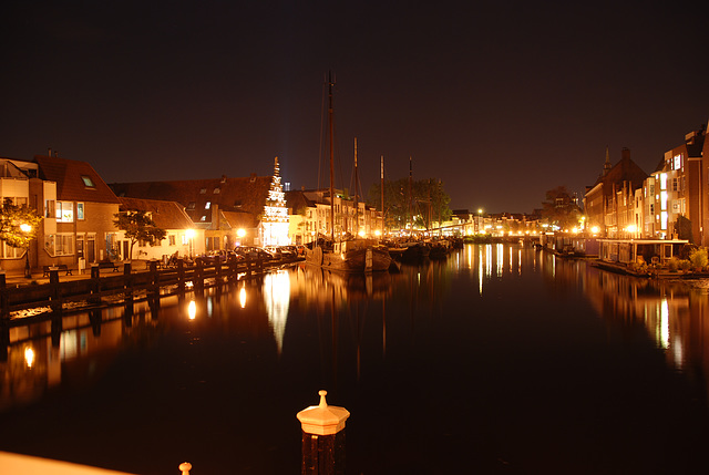 Some night shots of Leiden: Galgewater (Gallows's Water)