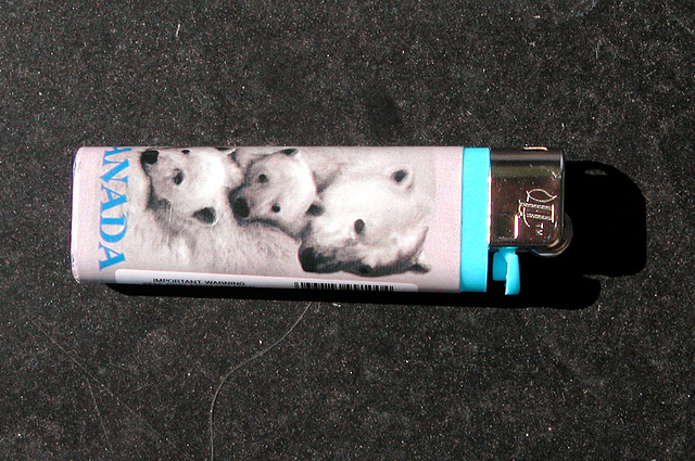 The problem with air travel is that you have to buy new lighters all the time