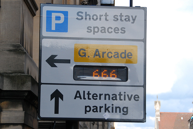 Cambridge: If you don't want to park with the Beast, there is alternative parking