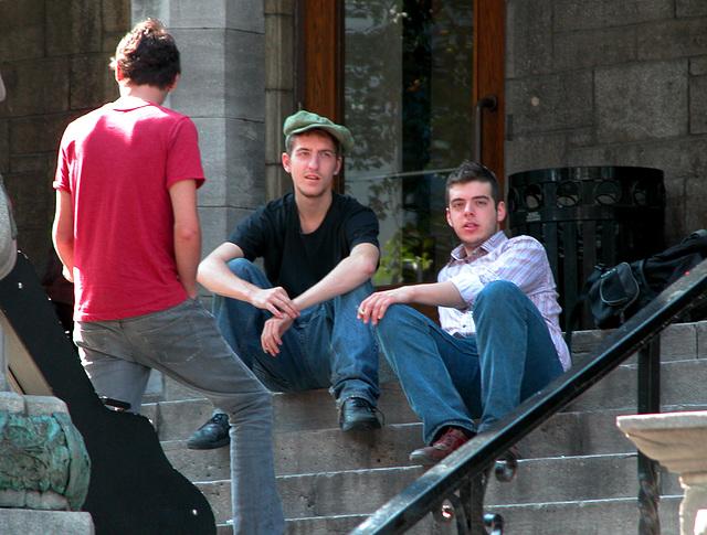 Students of McGill University at Montreal, QC, Canada