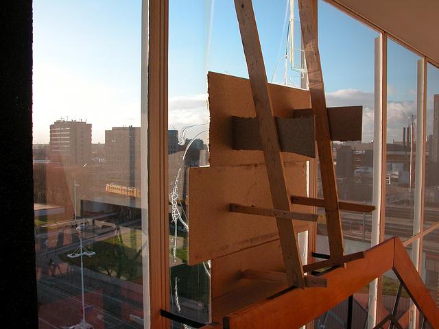 Emergency repair to the broken window