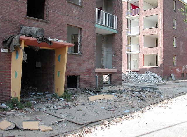 Demolition in North Leiden