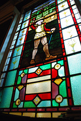 Stained glass, Crown Posada