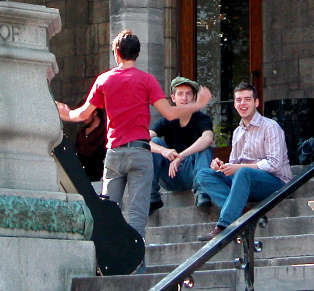Students of McGill University at Montreal, QC, Canada