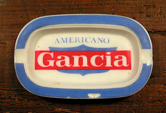 Ashtray series: Americano Gancia ashtray