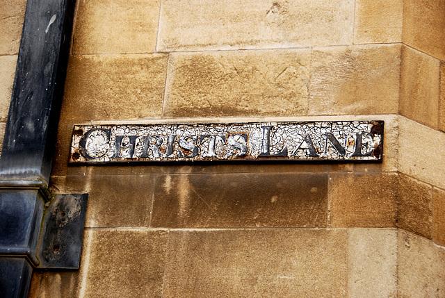 Cambridge: Christs Lane