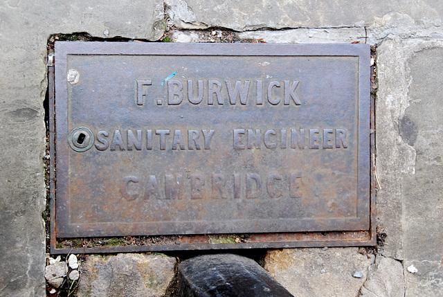 Cambridge: F. Burwick, Sanitary Engineer