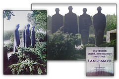 Langemark Military Cemetery August 2003 - statues