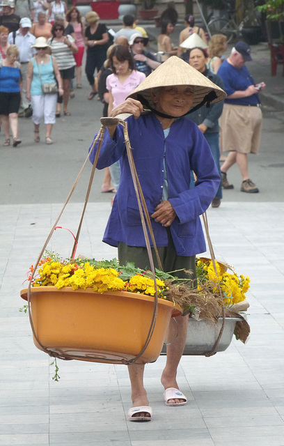 Smiling Flower Seller