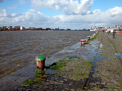 High water at Antwerp today
