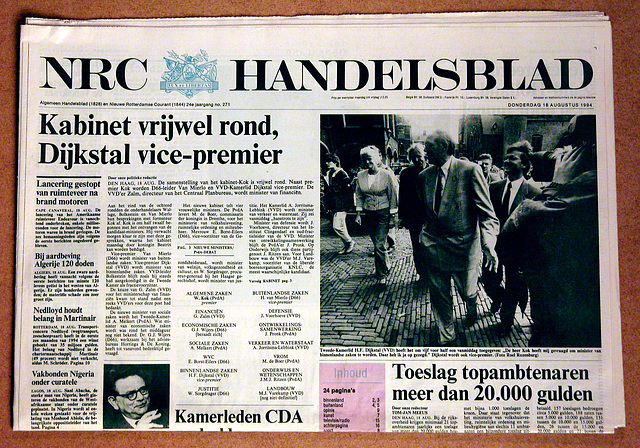 """Old newspaper of 1994: the birth of the so-called """"purple"""" cabinet"""