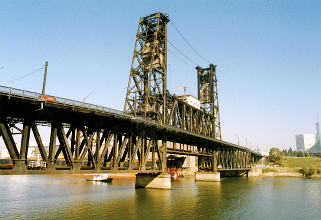 Some old pictures of Portland, OR: Steel Bridge