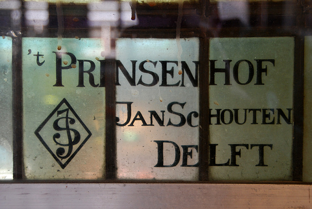 Haarlem station – signature of the stained glass of the station hall