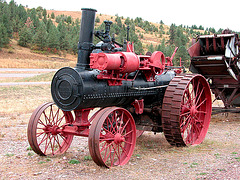 The Miracle of America Museum (Polson, Montana): steam tractor