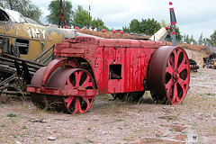 The Miracle of America Museum (Polson, Montana): steamroller
