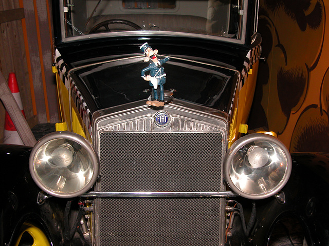 André Franquin exhibition in Brussels: the car of Gaston Lagaffe: 1925 Fiat 509