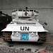 Scimitar light tank in UN colours