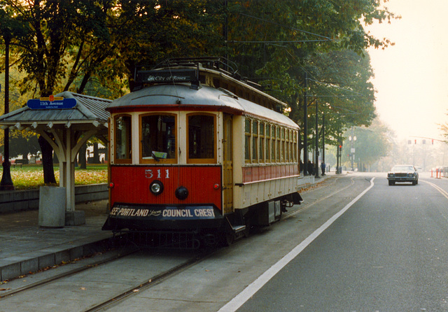 Some old pictures of Portland, OR: Museum Streetcar