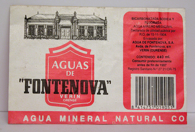 Label of Fontenova water