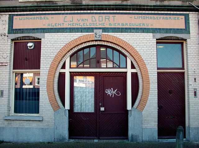 Former shopfront of drinks company C.J. van Oort