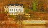 Landhaus an der Elbe / A country house by the river Elbe / Une mason de campagne sur la rivière /